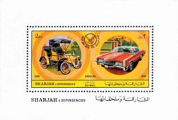 Ref. 39090 * NEW *  - SHARJAH . 1971. STAMP DAY. AMERICAN AUTOMOBILES. DIA DEL SELLO. AUTOMOVILES AMERICANOS - Sharjah