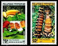 POLYNESIE 1988 - Yv. 295 Et 296 **   Cote= 5,00 EUR - Plats Polynésiens (2 Val.)  ..Réf.POL24541 - Französisch-Polynesien