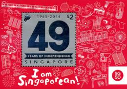 Ref. 328119 * NEW *  - SINGAPORE . 2014. 49TH ANNIVERSARY OF INDEPENDENCE. 49 ANIVERSARIO DE LA INDEPENDENCIA - Singapur (1959-...)