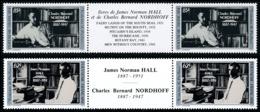 POLYNESIE 1988 - Yv. 297A Et 298A (297 & 298 En Tryptiques) **   Cote= 11,20 EUR - Ecrivains Hall Nordhoff  ..Réf.POL245 - French Polynesia