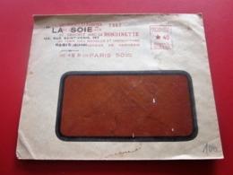 1931 FEMMES ÉLÉGANTES CROCHET-RONDINETTE-LA SOIE Paris 50 -Marcophilie Lettre EMA(Empreinte Machine à Affranchir Havas) - Storia Postale
