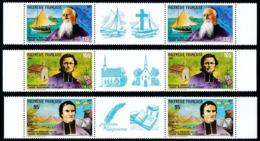 POLYNESIE 1987 - Yv. 292A à 294A (292 à 294 En Tryptiques) **   Faciale= 5,29 EUR - Missionnaires  ..Réf.POL24539 - Französisch-Polynesien