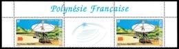POLYNESIE 1988 - Yv. 306A = 306 En Tryptique **   Cote= 21,00 EUR - Réseau Polysat  ..Réf.POL24547 - French Polynesia
