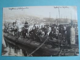 """06 - Villefranche Sur Mer - Carte Photo - Visite D'un Torpilleur Le """"Chevalier"""" - 1912 - Villefranche-sur-Mer"""