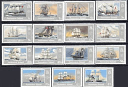 Ascension Island 1986 Ships Definitive Set Of 15, MNH, SG 409/23 (SHI) - Boten