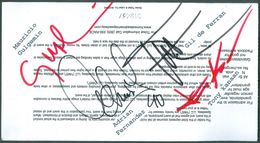 MARK BLUNDEL - AUTHOGRAPH ON  PADDOCK PASS  - CART RACING  -  HOMESTEAD 2000 - Handtekening