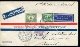 PAYS BAS - N° 103 + 169 / VOL AMSTERDAM ZURICH VIA BÂLE LE 1/5/1930 - TB - Poststempels/ Marcofilie