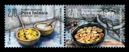 Bosnia And Herzegovina (Croatian) 2019 Mih. 523/24 Gastronomy. Polenta And Baked Potato MNH ** - Bosnia And Herzegovina
