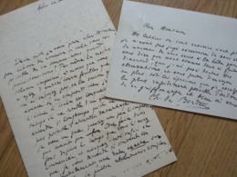 Charles De BORDEU (1857-1926) Ecrivain & Poète. Ami Francis JAMMES. Maire ABOS. BEARN. 2 X Autographe - Autografi