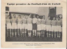 CORBEIL ESSONNES. Petit Carton 10X15  De L'équipe Du Football Club De Corbeil (Pas Une CP En L'état Voir Scan) - Corbeil Essonnes