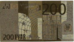 BILLET - 200 EURO EN OR FIN CARAT - Unclassified