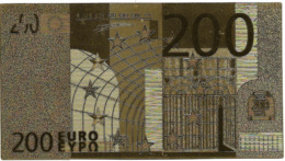 BILLET - 200 EURO EN OR FIN CARAT - EURO
