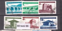 1966 TOURISM CULTURE MONUMENTS Mi 1599/04 6v.-used (O) Bulgaria / Bulgarie - Sin Clasificación