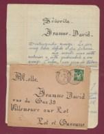 311019 - GUERRE 1939 45 - Lettre 82 Septfonds Tarn Et Garonne 1940 Camp Réfugié Espagnol ESPAGNE R LAZARO 16/01/40 - Postmark Collection (Covers)
