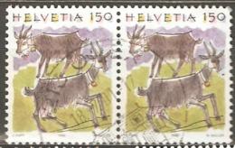 Switzerland: 2 Used Stamps From A Set, Animals, 1994, Mi#1531 - Switzerland