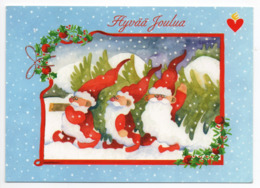 Postal Stationery HEART ASSOCIATION - FINLAND - Postage Paid  2008 - GNOMES - CHRISTMAS TREE - STAMP GIRL & BULLFINCHES - Finlandia