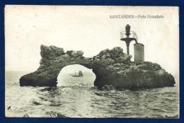 Espagne.Santander. Peña Horadada. ( Ilôt De Horadada Avec Phare, Baie De Santander). 1935 - Cantabria (Santander)