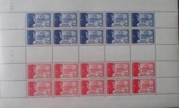 R1947/292 - 1942 - POUR LA LEGION TRICOLORE - FEUILLE COMPLETE - N°F565b TIMBRES NEUFS** - Cote : 275,00 € - Ungebraucht