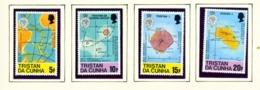 TRISTAN DA CUNHA  - 1980 Maps Set Unmounted/Never Hinged Mint - Tristan Da Cunha