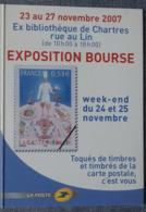 Petit Calendrier De Poche 2008 La Poste Timbre  Exposition Bourse Chartres - Small : 2001-...