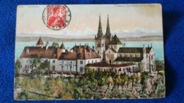 Neuchatel Chateau Collegiale Et Les Alpes Switzerland - NE Neuchâtel