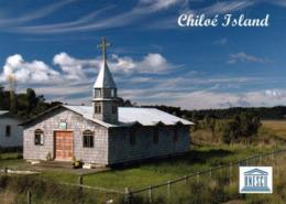 1 AK Chile / Island Chiloe * Eine Der Zahlreichen Holzkirchen Auf Der Insel Chiloé - Seit 2000 UNESCO Weltkulturerbe * - Chile