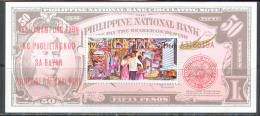 2993 ✅ Banknotes Coins On Stamps 1966 Philippines S/s MNH ** - Errori Sui Francobolli