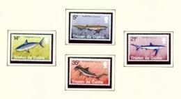 TRISTAN DA CUNHA  - 1982 Sharks Set Unmounted/Never Hinged Mint - Tristan Da Cunha