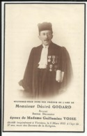 Mortuaire De Mr Désiré GODARD, Avocat, Ancien Bâtonnier, Dcd à Verviers Le 8/3/1935 à L'âge De 57 Ans. - Images Religieuses