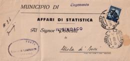 Piego Postale Italia Democratica - Municipio Di Lagosanto - Affrancato Lire 5 - 1946-.. République