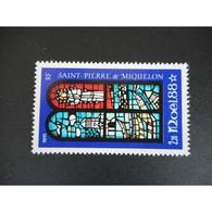 Timbre N° 496 Neuf ** - Noël. Vitrail - St.Pierre Et Miquelon