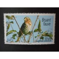 Timbre N° 939 Neuf ** - Oiseau. Bruant Fauve - St.Pierre & Miquelon