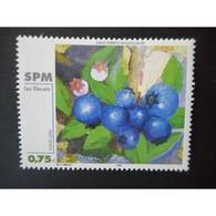 Timbre N° 794 Neuf ** - Peinture - Les Bleuets - St.Pierre Et Miquelon