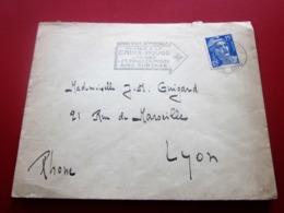 Lettre Oblitération Mécanique (flamme Croix Rouge )PARIS 15  Marcophilie Timbre SEUL Affr. Marianne De GANDON - Poststempel (Briefe)