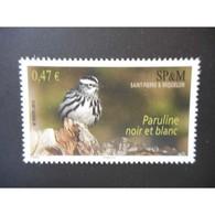 Timbre N° 972 Neuf ** - Oiseau. Paruline Noir Et Blanc - St.Pierre & Miquelon