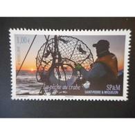 Timbre N° 973 Neuf ** - La P^che Au Crabe - St.Pierre & Miquelon