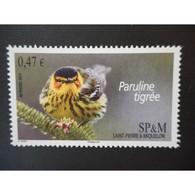Timbre N° 991 Neuf ** - Oiseau. Paruline Tigrée - St.Pierre Et Miquelon