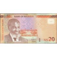 TWN - NAMIBIA 17a - 20 Dollars 2015 Prefix D - Signature: Shiimi UNC - Namibia