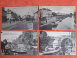 Lot De 15 Carte De Poissy . Avec Des Belles Animations . Tramway. Restaurant - Poissy
