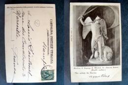 (FP.A17) BASILICA DI SUPERGA - SAN MICHELE CHE SCHIACCIA SATANA (Monumento FINELLI SCULTORE) - Sculture