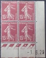 R1189/234 - 1929 - TYPE SEMEUSE - BLOC - N°189 (I) TIMBRES NEUFS** CdF Daté - ....-1929