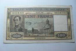 BELGICA - BILLETE DE 100 FRANCOS BELGAS DE 1946 - 100 Frank