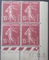 R1189/241 - 1936 - TYPE SEMEUSE - BLOC - N°189 (I) TIMBRES NEUFS** CdF Daté - 1930-1939