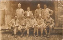 Cpa De 14-18, Carte-photo De Soldats Du 144e De Bordeaux Au Repos Après Le Chemin Des Dames, Alsace, Juillet 17 - Guerra 1914-18