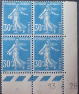 R1189/242 - 1926 - TYPE SEMEUSE - BLOC - N°192 (IIA) TIMBRES NEUFS** CdF Daté - ....-1929