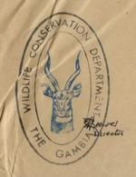 COVER POSTAGE PAID WILDLIFE CONSERVATION DEPARTMENT OF GAMBIA - ANTILOPE VERY NICE AND UNUSUAL COVER - KUDU ANTILOPE - Environment & Climate Protection