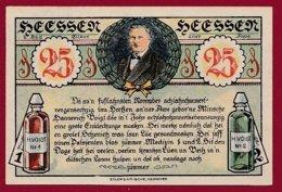 Allemagne 1 Notgeld 25 Pfenning  Stadt Heessen  (RARE )  Dans L 'état Lot N °5043 - [ 3] 1918-1933 : República De Weimar