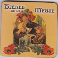 Sous Bock Biere De Lla Meuse En Liege 4mm D 'epaisseur Glacé (rare) - Portavasos