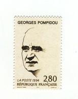 Pompidou YT 2875 Avec GOMME MATE + Normal . Rare , Voir Le Scan . Cotes Maury N° 2869 + 2869a : 41.30 € . - Variétés: 1990-99 Neufs