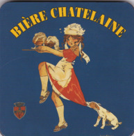 Sous Bock Biere Chatelaine En Liege 4mm D 'epaisseur Glacé (rare) - Portavasos